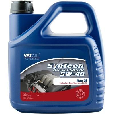 Моторное масло VATOIL SynTech Diesel 505.01 5W-40, 4 л, VATOIL, 50045 - 50045